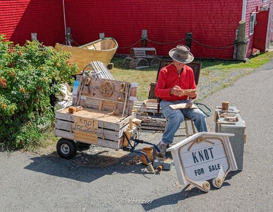 Vendor on Lunenburg waterfront.