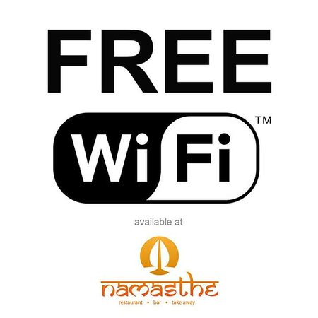 Macclesfield, UK: Just another great reason to visit Namasthe!😉 #FreeWiFi