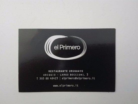 Origgio, Italy: biglietto da visita, prenotate o si incazzano!!! ;-)