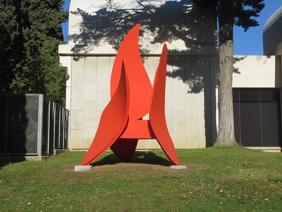 Sculpture outside of the museum. - Picture of Fundacio Joan Miro ...