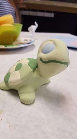 Northborough, MA: I painted a turtle, and it was about 20 for it, but it was fun