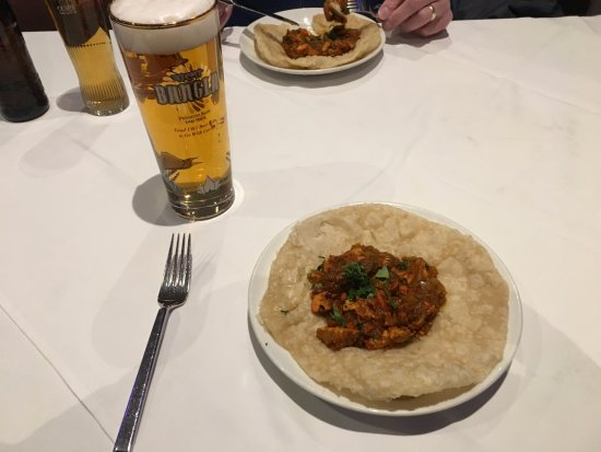 Wickford, UK: Chicken Chat Puree at The Blue Chutney