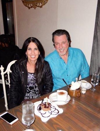 ROSARIO CASSATA AND CAROLYN CELEBRATING AT TULA IN BAY SHORE ,NY.