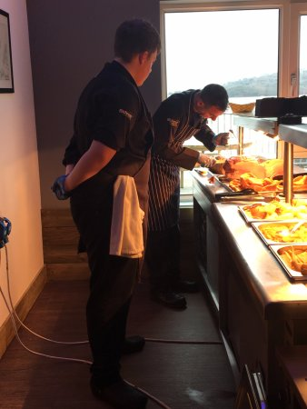 Torpoint, UK: Chef teaching our apprentice