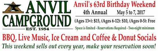 Anvil Campground: Anvil 63rd Birthday Weekend