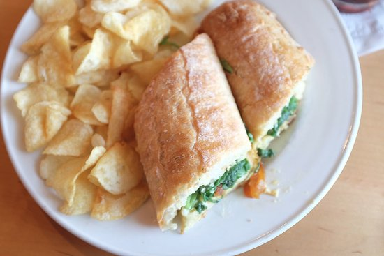 Fabyan's Station Restaurant and Lounge: Fabyan's Grilled Cheese: Brie Cheese, Arugula, Golden Raisin-Onion Marmalade, Baguette