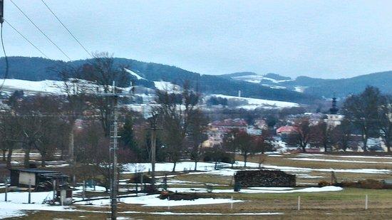 Nove Mesto na Morave, Republika Czeska: Výhled z pokoje 214