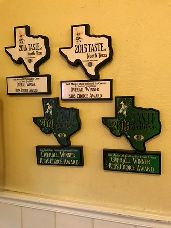 Denton, TX: Award wall