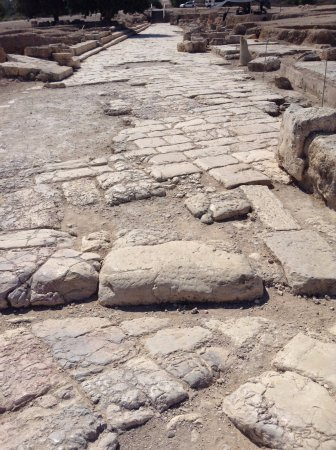 Zippori, Izrael: The original street in Sepphoris