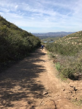 Poway, CA: The lower part of the trail