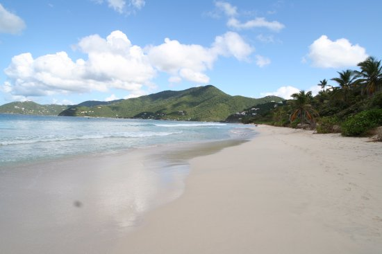 Long bay beach (Tortola there's 2 beaches with the same name)
