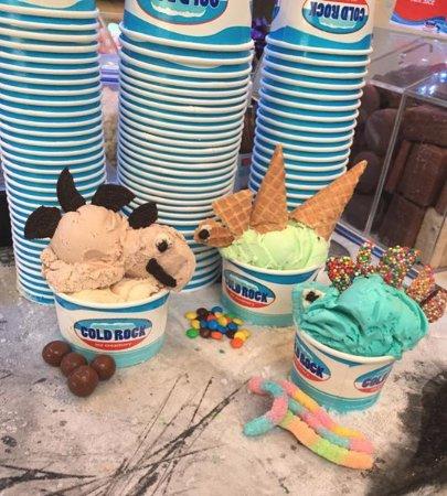 latenighticecream cold rock ice cream freshly mixed up on the rock everton park brisbane aspley
