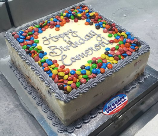 Cold Rock Ice Creamery Birthday Celebration Cream Cake By Everton Park Brisbane Aspley