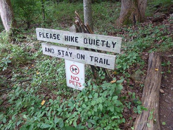 Charlottesville, Wirginia: trail signs