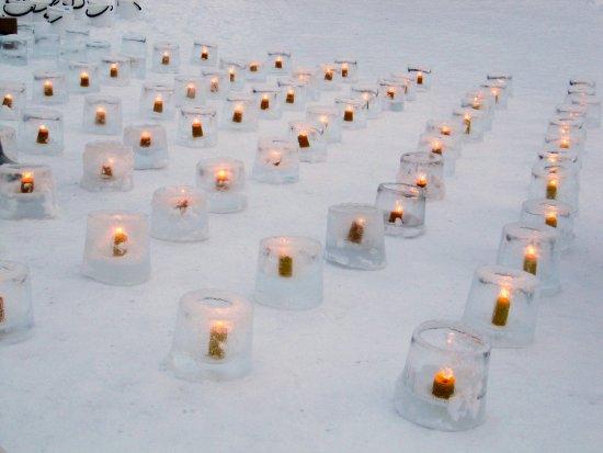 Mikkeli, Finland: Jäälyhtytapahtuma helmikuussa