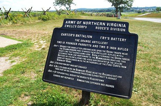 Gettysburg National Military Park: Sign