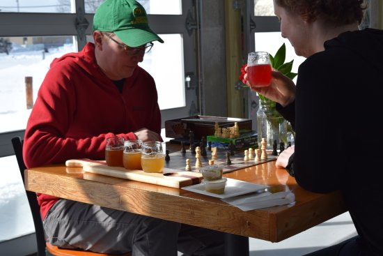 Brunswick, ME: Chess. Beer. Check.