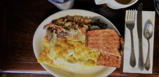 Castle Rock, CO: Gyro Meat Scrambled Eggs Presentation C- Taste A+