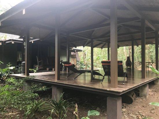 El Silencio Lodge & Spa: Spa/Yoga Deck, location of Romantic Sundown dinner