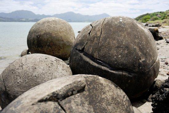 Opononi, New Zealand: Heap of boulders