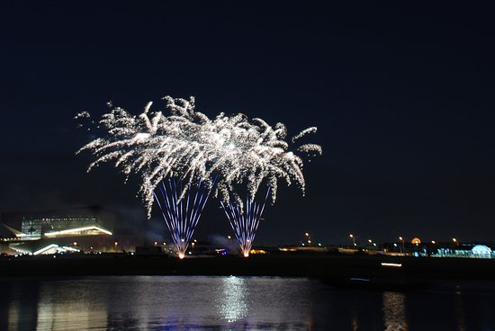 Irving, TX: Fireworks over Lake Carolyn