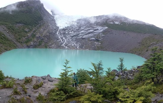 Glaciar Huemul: aunque estaba nublado es unlugar magico
