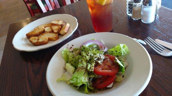 Horsham, PA: my house salad with toasted Italian bread