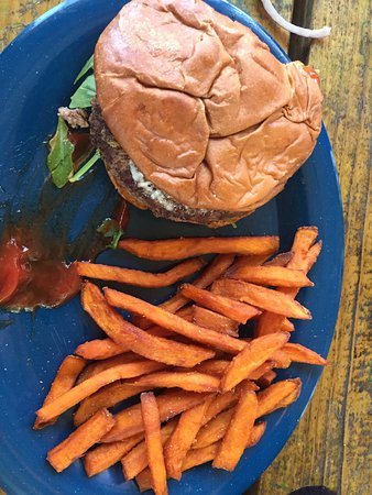 We Enjoyed Mardi Gras Lunch At Old 27 Grill In Fairhope Today I Had The Old 27 Burger The Fo Picture Of Bill E S Fairhope Tripadvisor