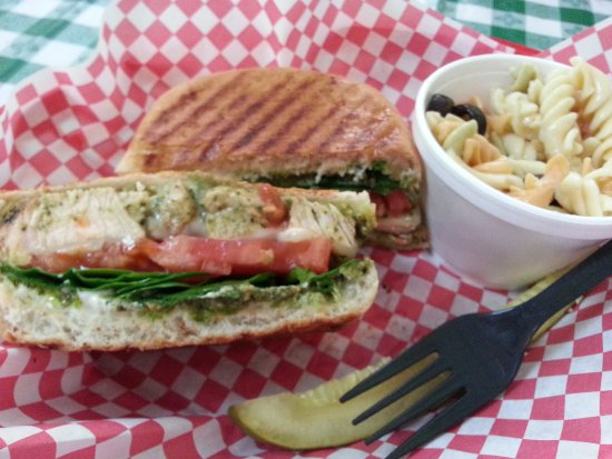 Bizilia's Cafe Chicken Pesto Panini (aka OMG Panini!)