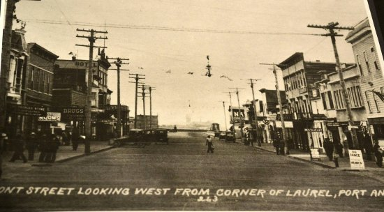 Historic image of downtown Port Angeles