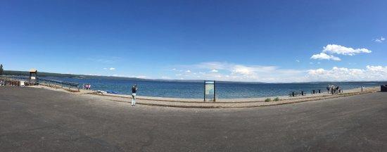 Panoramic Yellowstone Lake shoreline
