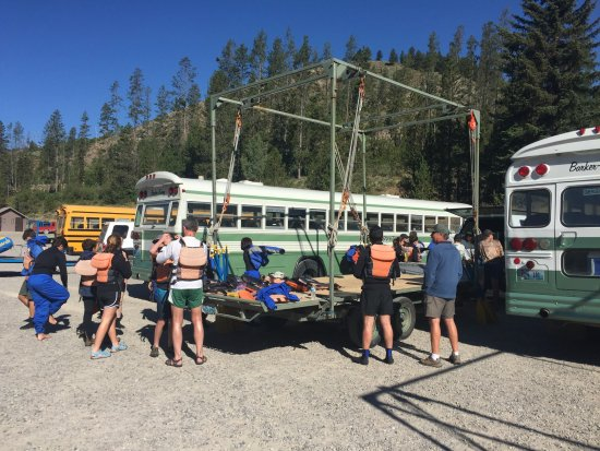 Snake River: Putting on gear for white water rafting