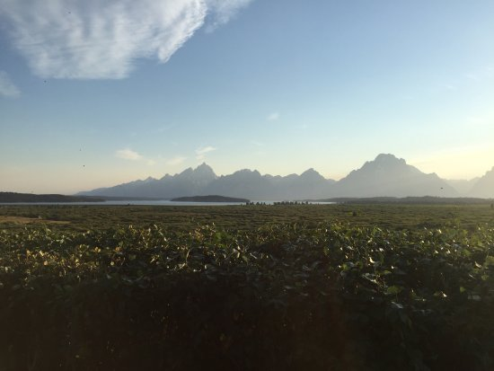 Grand Teton: Sunset by the lodge
