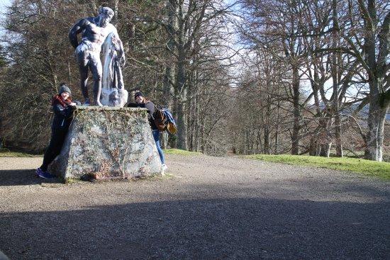 Blair Atholl, UK: Hercules sculpture at the highest point of Hercules Gardens
