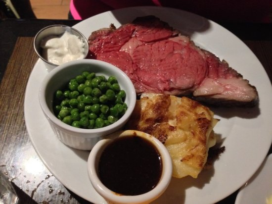 Surprise, AZ: Prime Rib with Potato gratin and green peas