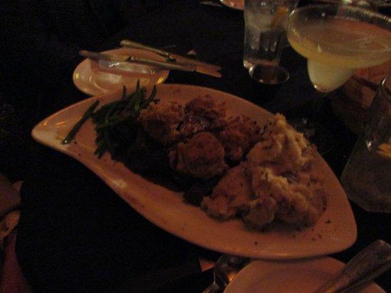 Oakland, MD : Skirt steak with stuffed mushrooms