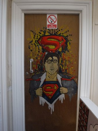 Clyde Hostel : My Superman Room Entrance