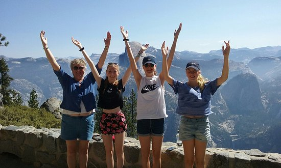 Oakhurst, Kaliforniya: making a Y at Glacier Point