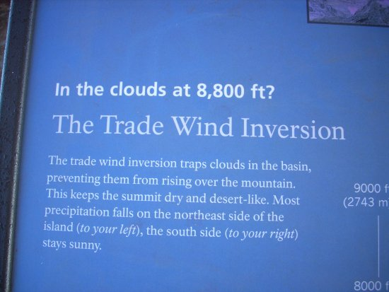 Kula, HI: Info about the clouds over Haleakala