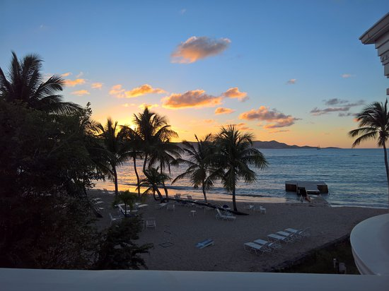 The Buccaneer St Croix: Our sunset each night.
