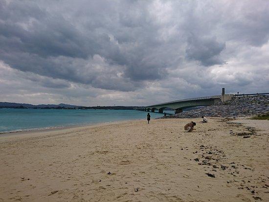 Nakijin-son, ญี่ปุ่น: 古宇利大橋ふもとのビーチ
