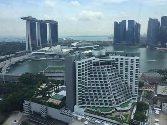 Pan Pacific Singapore: View of Marina Bay Sands towers
