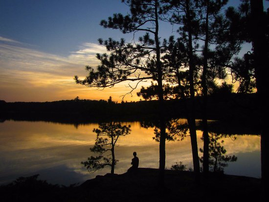 Atikokan, Kanada: Another beautiful sunset to reflect on