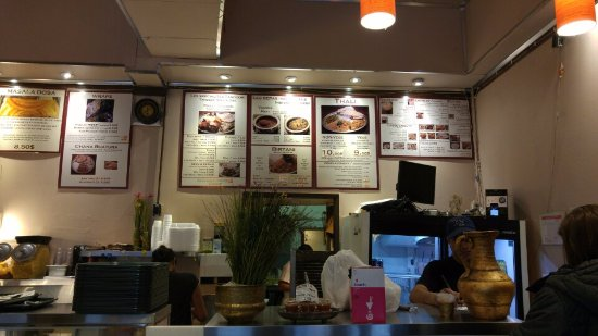 Thali Cuisine Indienne: Vue de l'entrée