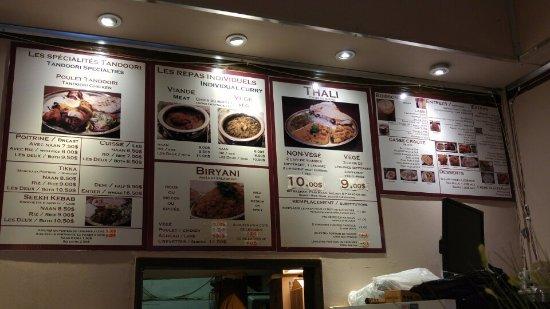 Thali Cuisine Indienne: Menu