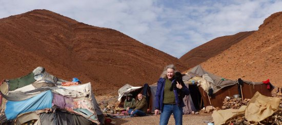 Morocco Explored - Day Tours: Nomad's tent and one of his goats