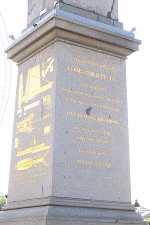 Place de la Concorde: Base of the obelisk