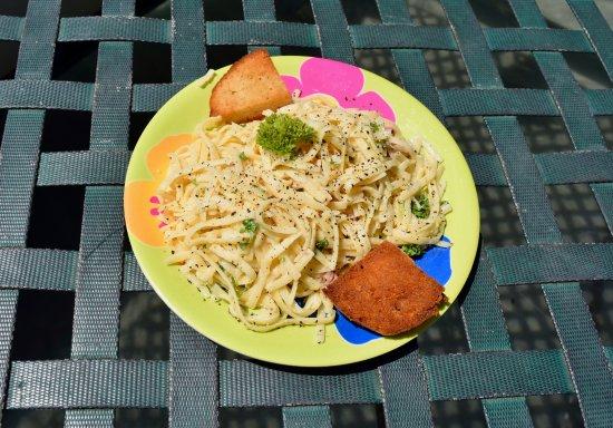 Bocas Town, Panama: Excellent carbonara lunch!