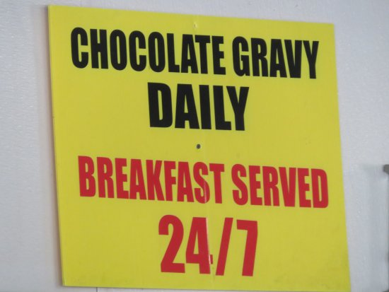 Roland, OK: Our server explained chocolate gravy ... really !