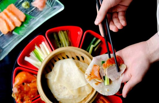 Sala Sala Restaurant: Peking Duck - Simply pile your pancake with some crispy skinned, shredded duck meat and top with